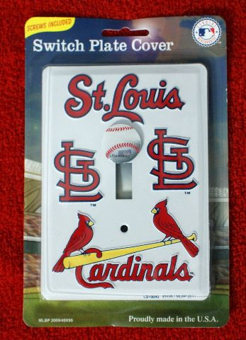 St Louis Cardinals Light Switch Plate Cover MLB Baseball Cards Man Cave