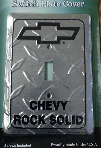 Chevy Rock Solid Light Switch Plate Cover Camaro Corvette Silverado Chevrolet C2