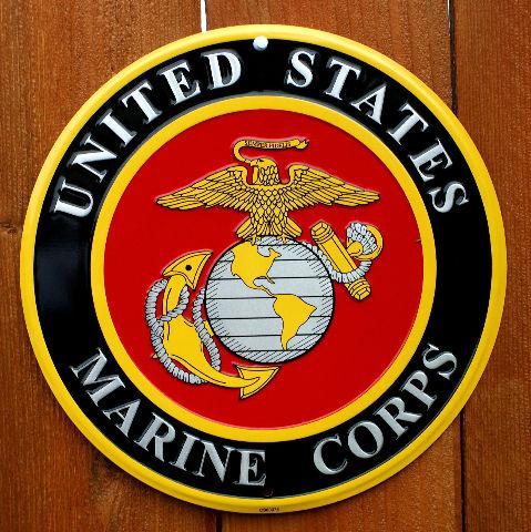 United States Marine Corps Tin Sign Military America Usa