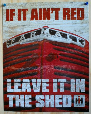 If It Aint Red Farmall Tin Sign Farm Barn Tractor