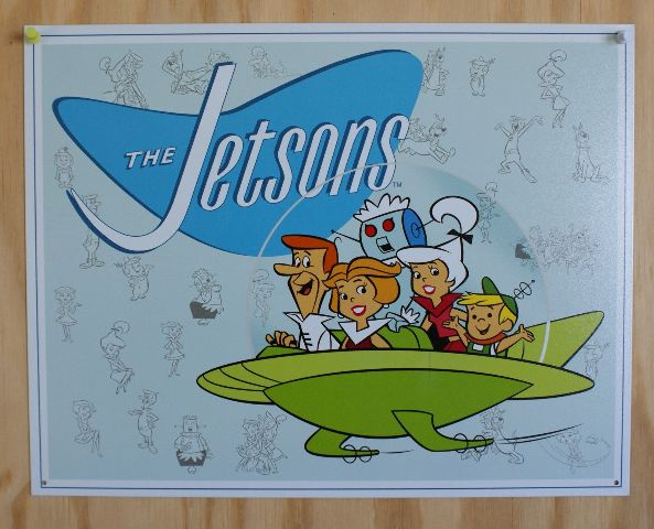 The Jetsons Abc Tin Sign 60 S Cartoons Childhood Birthday