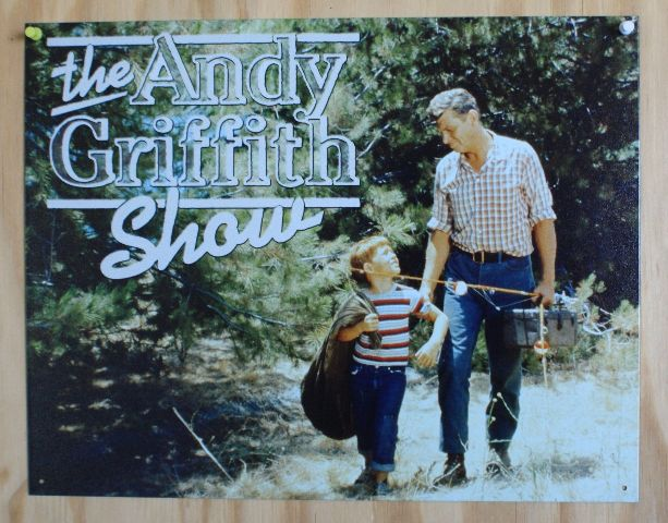 The Andy Griffith Show Tin Sign Mayberry Barney Fife Opie