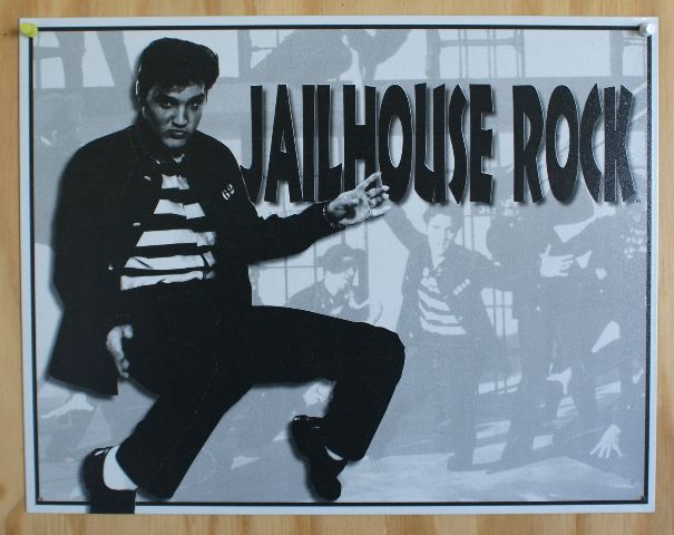 Elvis Presely Jailhouse Rock Tin Sign 50 S Sun Records