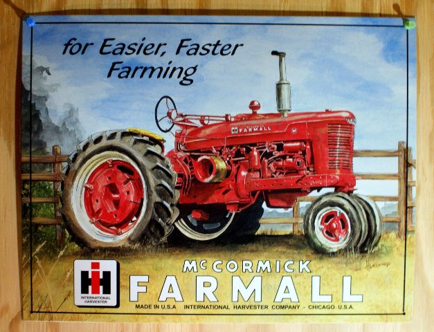 Royal Gate Dodge >> McCormick Farmall Tractor Tin Sign Farm Country ...