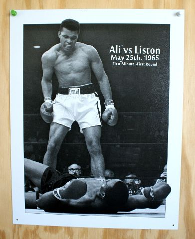 Muhammad Ali Vs Sonny Liston Tin Sign Cassius Clay Boxing