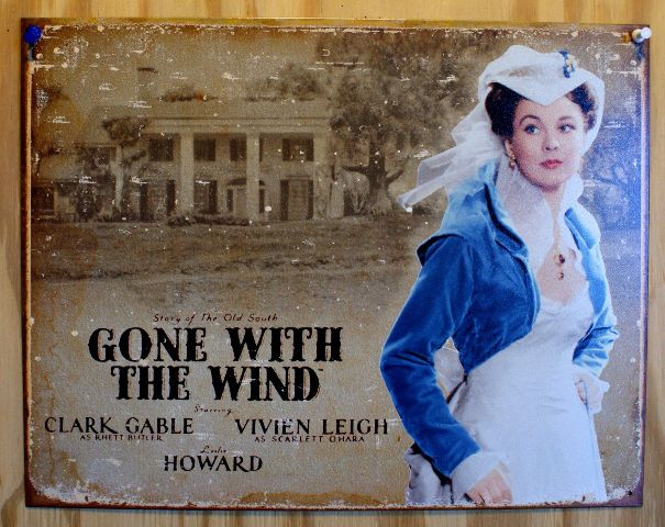 Scarlet Ohara Gone With The Wind Tin Sign Clark Gable