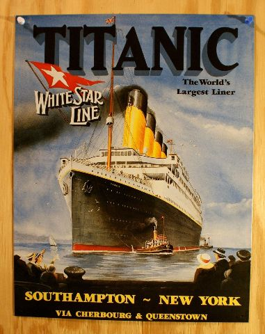 Titanic White Star Line Advertisement Tin Sign Movie ...