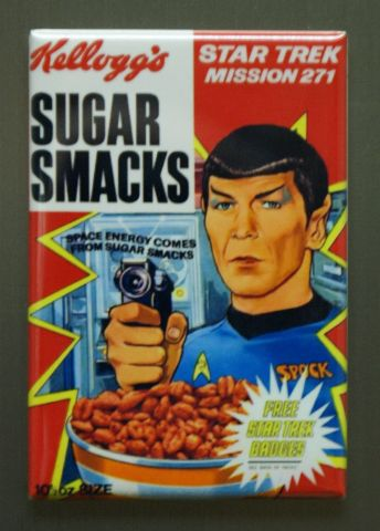 Kellogg's Sugar Smacks Mr Spock Star Trek Cereal Refrigerator Fridge Magnet G30