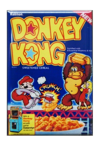 Nintendo Donkey Kong Cereal Refrigerator Fridge Magnet Arcade Game Mario