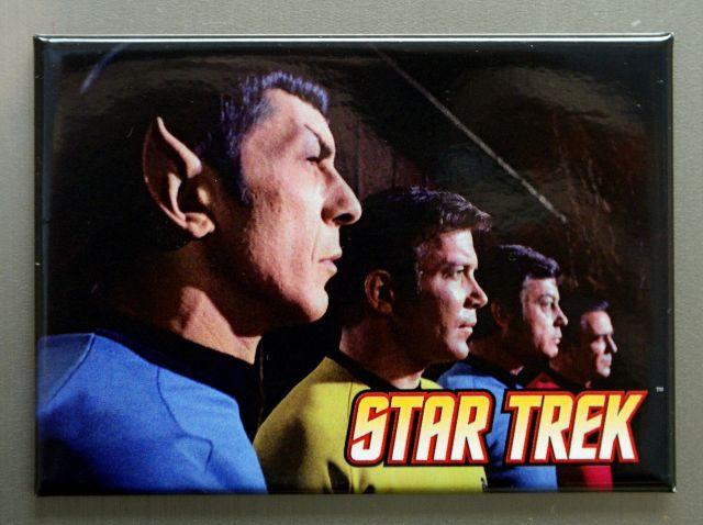 Star Trek Original Cast profile Refrigerator FRIDGE MAGNET Spock Kirk McCoy Q20