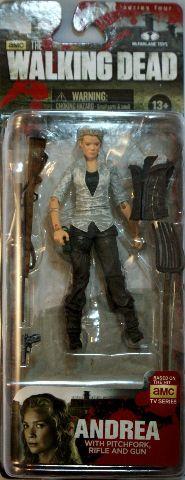 AMC Walking Dead Comic Book Andrea McFarlane Action Figures Zombies Rifle