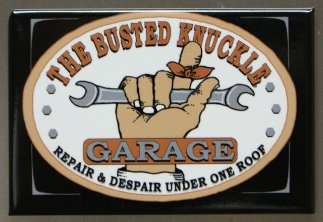 The Busted Knuckle Garage Refrigerator Fridge Magnet Mechanic Cars Trucks A10