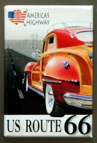 US Route 66 Americas Highway FRIDGE MAGNET Hot Rod Garage Mechanic Car Truck P4