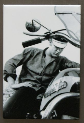Elvis Presley The King FRIDGE MAGNET Music Movie Icon 1950's Harley Davidson E9