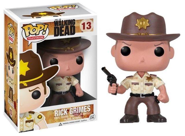 Walking Dead Sherriff Rick Grimes W Pistol Pop Vinyl TV Series Figure 13 Funko