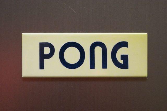 Atari Pong Refrigerator Fridge Magnet Arcade Marquee Video Game Classic Logo LC4
