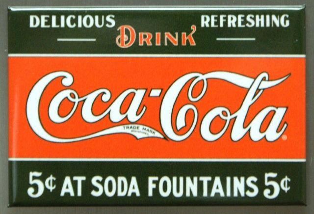 Drink Coca Cola FRIDGE MAGNET Coke Soda Fountains Pop Kitchen Decor B9