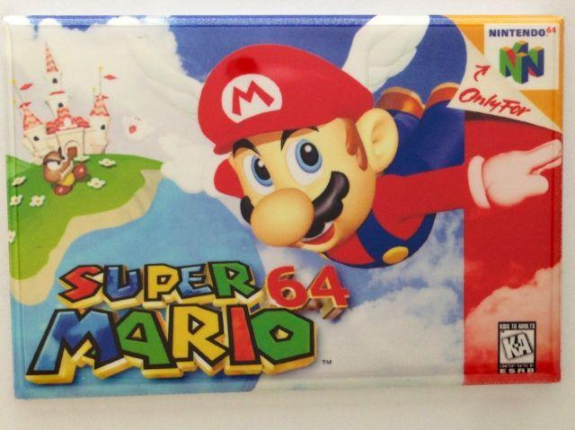 Super Mario 64 refrigerator FRIDGE MAGNET N64 nintendo 64 video game magnet