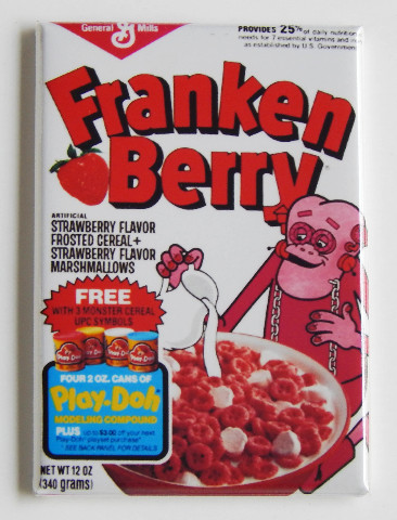 Franken Berry General Mills Cereal Frankenstein Fridge