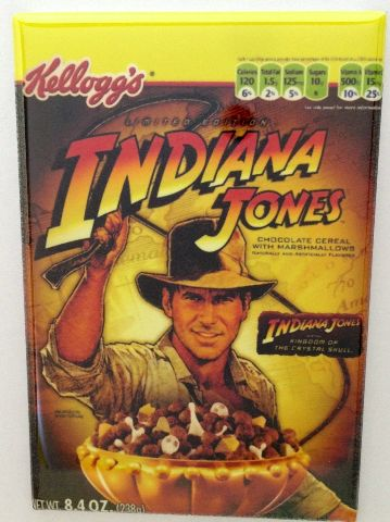 Kelloggs Indiana Jones Cereal Refrigerator Fridge Magnet