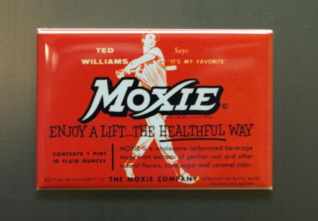 moxie ted williams refrigerator fridge magnet cola soda pop mlb red sox e6