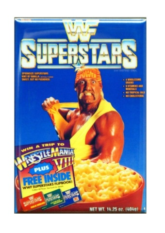 Wwf Superstars Cereal Refrigerator Fridge Magnet Wrestling