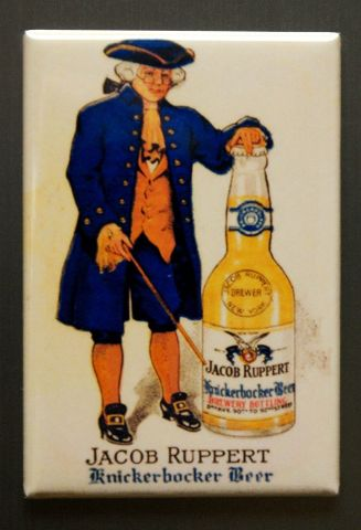 Sd Jacob Ruppert Knickerbocker Beer Refrigerator Fridge Magnet Americana Style G