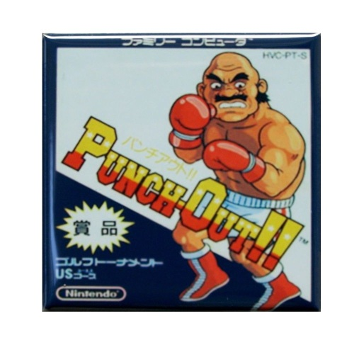 japanese nintendo punch out refrigerator fridge magnet video game arcade k24