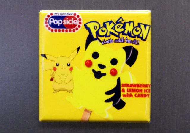 Pikachu Pokemon Popsicle Refrigerator Fridge Magnet Video