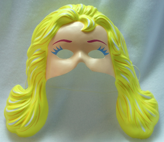 Vintage Costume Magic Barbie Mattel Halloween Mask Doll
