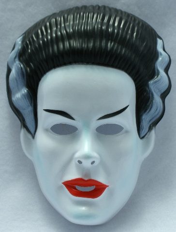 Vintage The Bride Of Frankenstein Halloween Mask Rubies