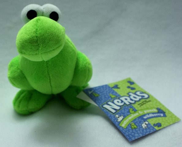 Green Nerds Plush Key Chain Stuff Animal Willy Wonka Candy Pop Art Nerd