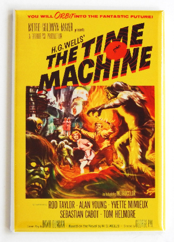 HG wells the Time Machine movie poster FRIDGE MAGNET thriller suspense movie o4