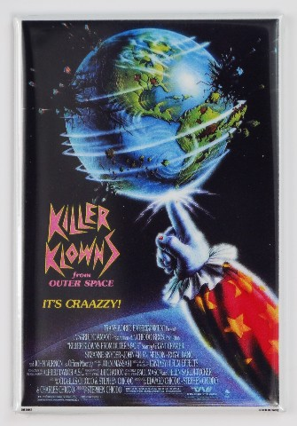 Killer Klowns from outer space clown movie poster FRIDGE MAGNET Sci FI Horror