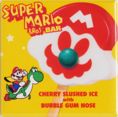 Yoshi Super Mario Bros Popsicle bar Fridge Magnet Arcade Game Nintendo B4