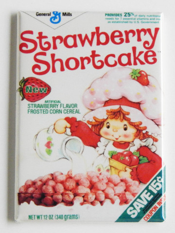 Strawberry Shortcake cereal box retro FRIDGE MAGNET 80s cartoon repro G7