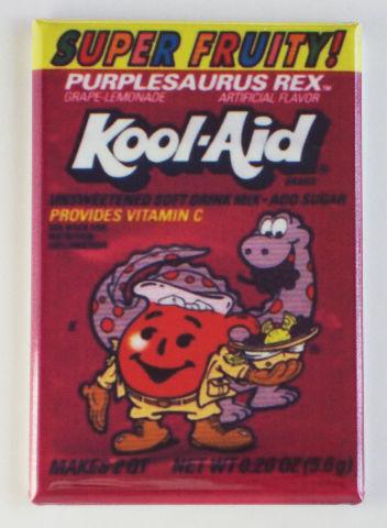 Super Fruity Kool aid man FRIDGE MAGNET retro purplesaurus rex A1 Dinosaur