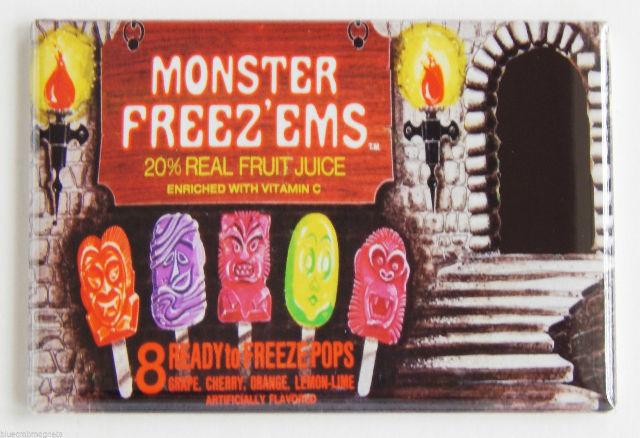 Monster Freeze ems popsicle box FRIDGE MAGNET 70s food ad repro mag H7