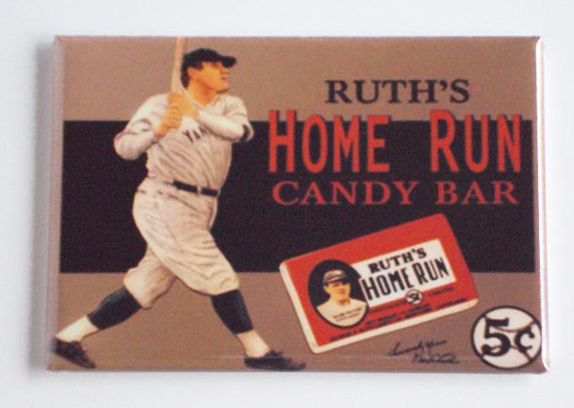 Babe Ruths home run candy bar FRIDGE MAGNET wrapper advertisement Yankees H5