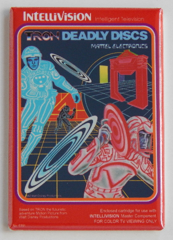 Tron Deadly Discs FRIDGE MAGNET Intellivision Mattel Electronics game magnet K1