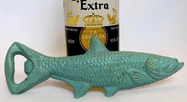 Cast Iron Fish Bottle Opener Soda Pop Top Kitchen Garage Beer Fishing Decor