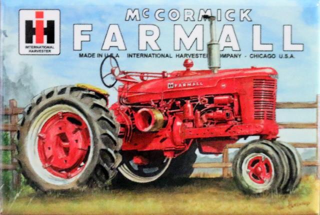 McCormick Farmall Tractor FRIDGE MAGNET International Harvester IH Farm Barn DES