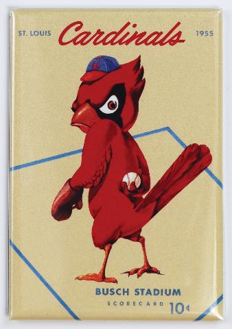St Louis Cardinals Busch Stadium FRIDGE MAGNET Vintage Retro Logo MLB Baseball