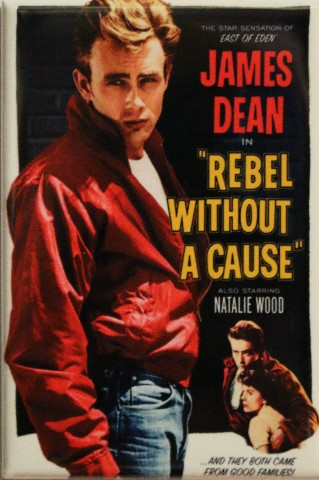 James Dean Rebel Without a Cause Movie Poster FRIDGE MAGNET Vintage Style 1950s