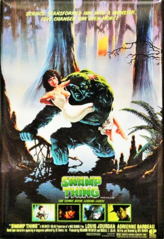 Swamp Thing Movie Poster FRIDGE MAGNET Cult Classic Monster DC Comics Comic Book 1980s