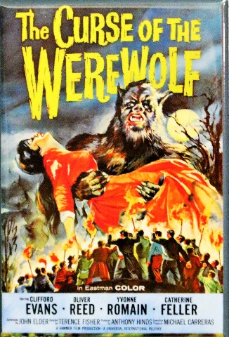 The Curse of the Werewolf Movie Poster FRIDGE MAGNET Vintage Style Horror Monster