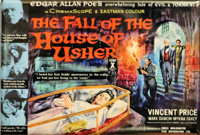 The Fall of the House of Usher Movie Poster FRIDGE MAGNET Vintage Style AD o6