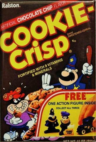 Chocolate Chip Cookie Crisp FRIDGE MAGNET Vintage Style AD Cereal Box Kitchen i5