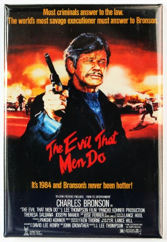 The Evil That Men Do Fridge Magnet Movie Poster Charles Bronson
