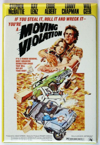 Moving Violation Fridge Magnet Movie Poster Classic
